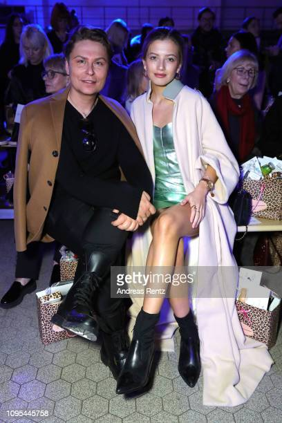 Dawid Tomaszewski and guest attend the Marina Hoermanseder Defile during 'Der Berliner Salon' Autumn/Winter 2019 at Vollgutlager on January 17 2019...