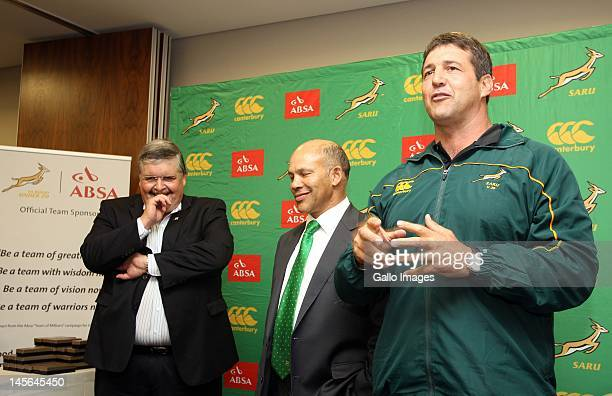 Dawie Theron during the South African U/20 handover of a signed jersey at Garden Court Hotel on June 3 2012 in Cape Town South Africa