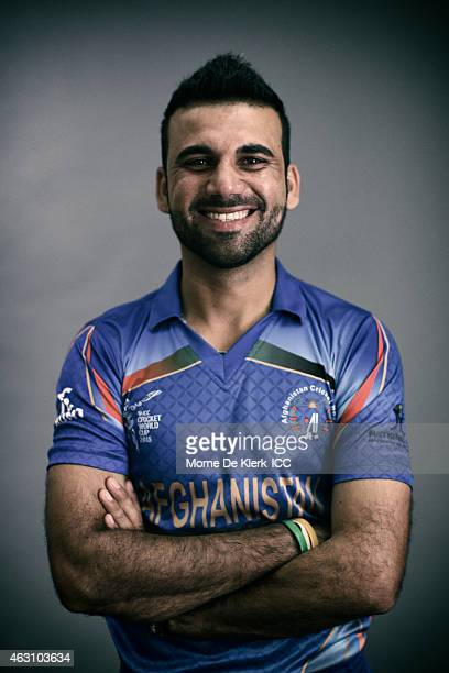 Dawlat Zadran of Afghanistan poses during the Afghanistan 2015 ICC Cricket World Cup Headshots Session at the Intercontinental on February 7 2015 in...
