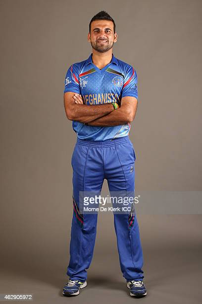 Dawlat Zadran poses during the Afghanistan 2015 ICC Cricket World Cup Headshots Session at the Intercontinental on February 7 2015 in Adelaide...