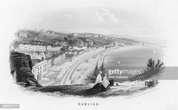 'Dawlish' Devon c1860 This viewshows the track of Isambard Kingdom Brunel's South Devon Railway The South Devon was an example of an atmospheric...