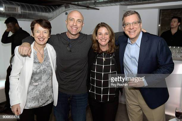 Dawn Airey Al Bello Pam Woehrle and Gene Foca the Getty Images 2017 Year In Focus client event on January 18 2018 in New York City