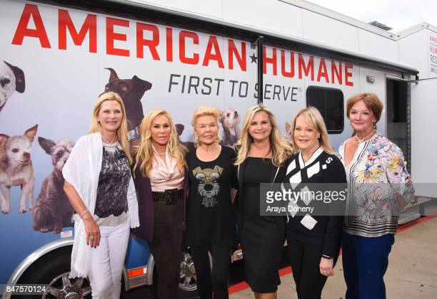 Dawn Assenzio Adrienne Maloof Lois Pope Robin Ganzert Candy Spelling and Amanda Bowman attend the American Humane unveiling of the California Rescue...