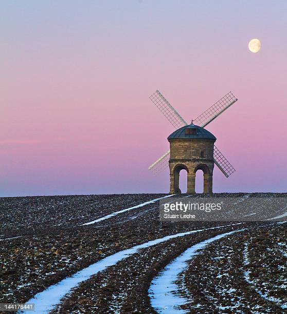dawn at chesterton windmill - chesterton stock photos and pictures