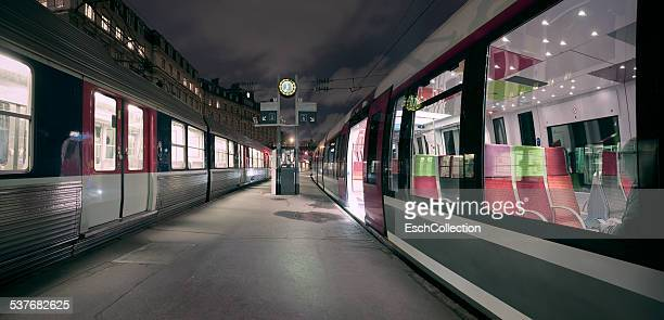 Dawn at Gare Saint Lazare in Paris, France
