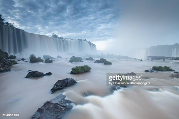 Dawn at Iguazu Waterfall