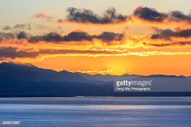 Dawn at Lake Manasarovar, Ngari, Tibet