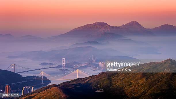 Dawn at Lantau Peak & Sunset Peak, Hong Kong