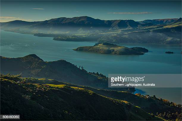 Dawn at Lyttelton harbour, South Island, New Zealand