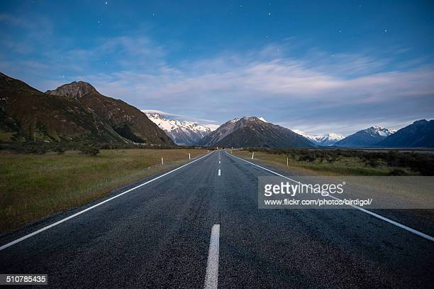 Dawn at Mt. Cook national park