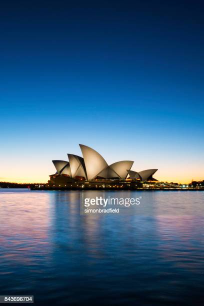 dawn at sydney opera house, australia - sydney stock pictures, royalty-free photos & images