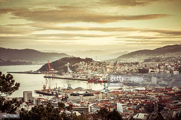 Dawn at the Harbor of Vigo, Spain