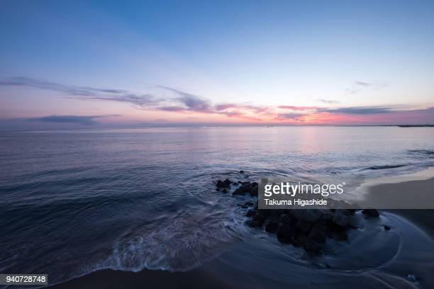 Dawn at Volcanic bay