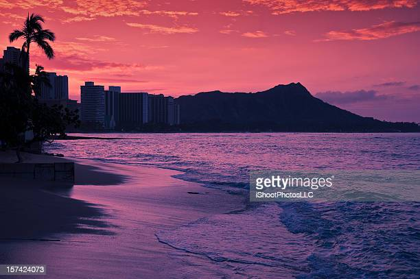 Dawn at Waikiki Beach