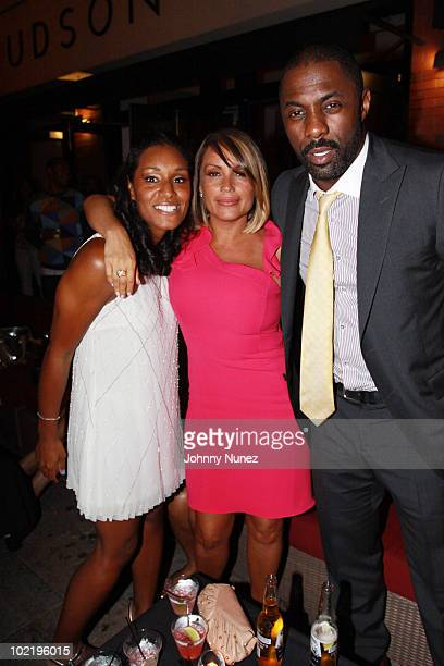 Dawn Baxter Angie Martinez and Idris Elba attend Dawnie B's birthday at Talay on June 17 2010 in New York City