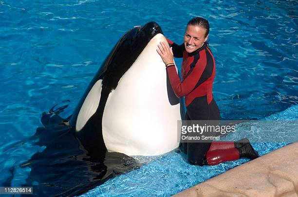 Dawn Brancheau a whale trainer at SeaWorld Adventure Park shown performing on December 30 was killed in an accident with a killer whale at the...