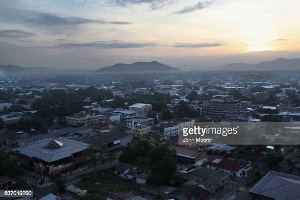 Dawn breaks on August 19 2017 in San Pedro Sula Honduras The city of some 800000 people was dubbed murder capital of the world before it was...