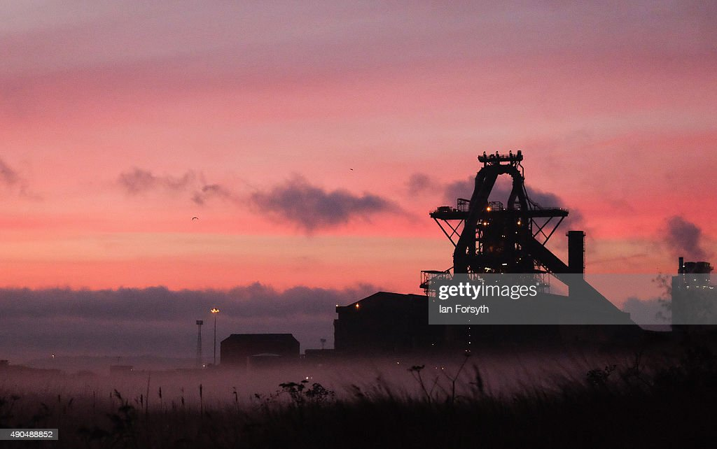 Dawn breaks over the blast furnace at the SSI UK steel plant on September 29, 2015 in Redcar, England. Following the announcement that SSI UK are mothballing the plant and ceasing steel production 1700 jobs at the Teesside site have been lost.