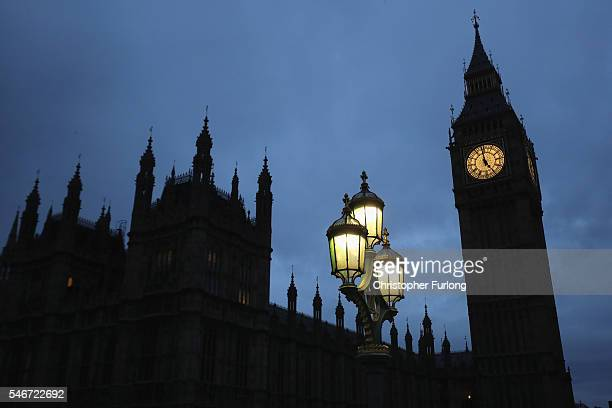 Dawn breaks over the Houses of Parliament as Home Secretary Theresa May prepares to walk into Number 10 as prime minister later today on July 13 2016...