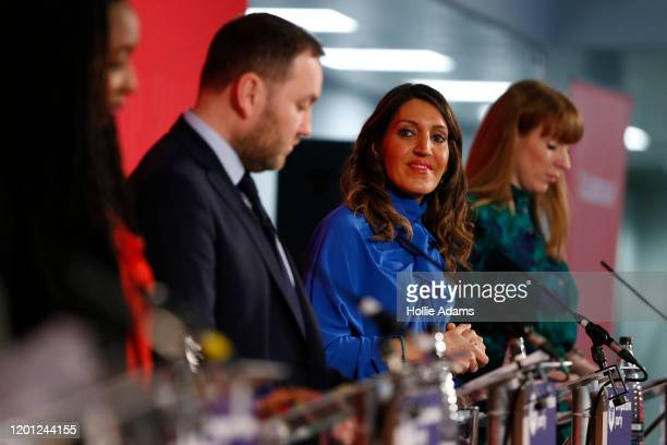 Dawn Butler Ian Murray Dr Rosena AllinKhan and Angela Rayner speaking at a hustings event for Labour Leader and Deputy Leader hosted by the...