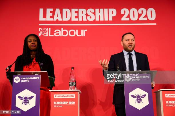 Dawn Butler listens to Ian Murray speaking at a hustings event for Labour Leader and Deputy Leader hosted by the Cooperative Party at the Business...