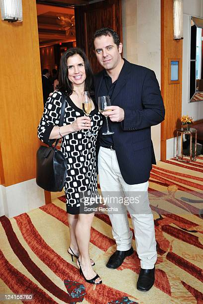 Dawn Dorigo and Charles Portes attend the Opening Night PreCocktail Party 'From The Sky Down' at The Ritz during the 2011 Toronto International Film...
