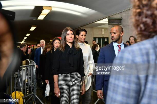 Dawn Dunning and Tarale Wulff walks into the courthouse for sentencing of movie mogul Harvey Weinstein on March 11, 2020 in New York City. Wulff gave...
