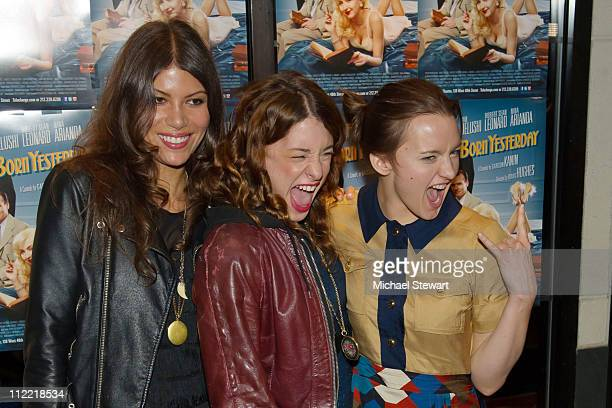 Dawn Dunning, Meghan Miller and Tanya Fischer of Bambi Killers attend the Creative Coalition and friends' celebration of the Broadway show 'Born...
