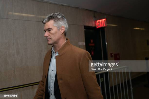 Dawn Dunning's former fiancé, Lincoln Davies departs from the Manhattan Criminal Court after testifying at the sex assault trial of Harvey Weinstein...