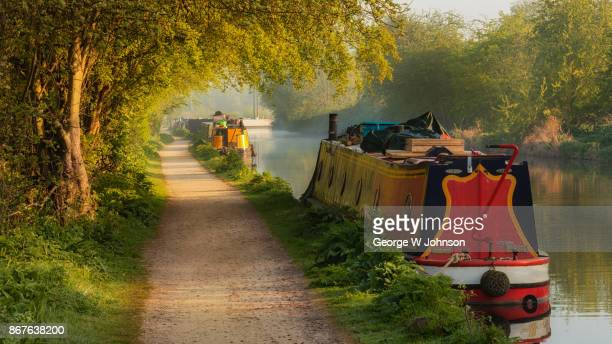 Dawn English Rural Canal Scene in Summer