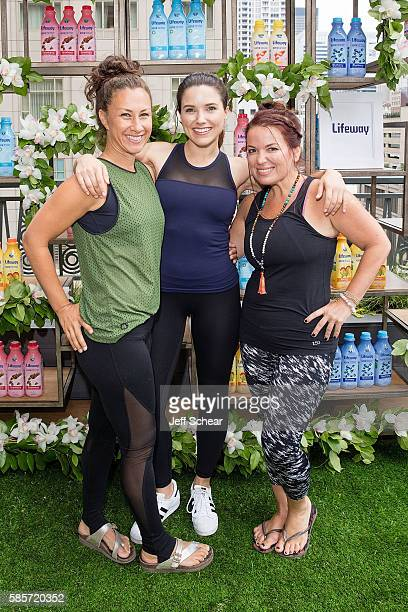 Dawn Feinberg Sophia Bush and Julie Smolyansky attend Julie Smolyansky Chicago PD's Sophia Bush Host Private Yoga Event Lollapalooza Weekend The...