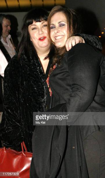 Dawn French and Alison Moyet during Smaller at the Lyric Theatre in London Departures at Lyric Theatre in London Great Britain