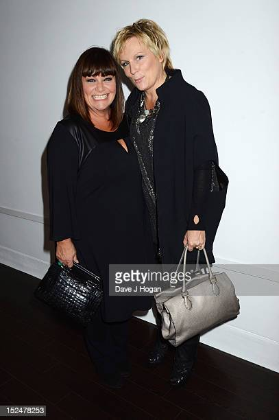 Dawn French and Jennifer Saunders and attend the press night for Jesus Christ Superstar the arena tour at The O2 Arena on September 21 2012 in London...
