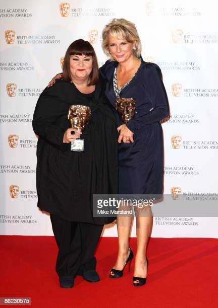 Dawn French and Jennifer Saunders attends the press room at British Academy Television Awards at Royal Festival Hall on April 26 2009 in London...