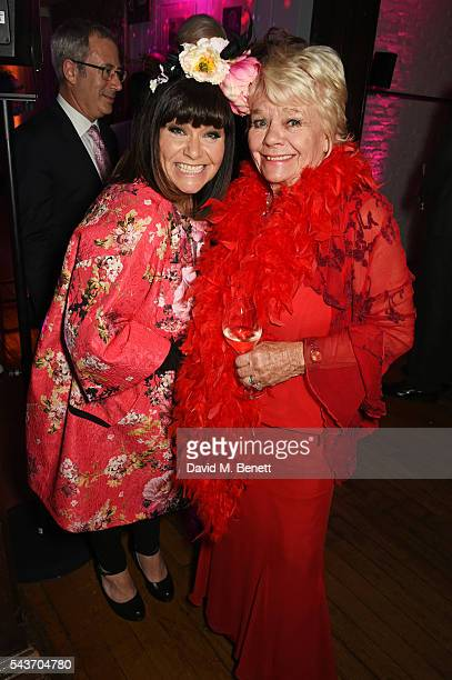 Dawn French and Judith Chalmers attend the World Premiere after party of 'Absolutely Fabulous The Movie' at Liberty on June 29 2016 in London England