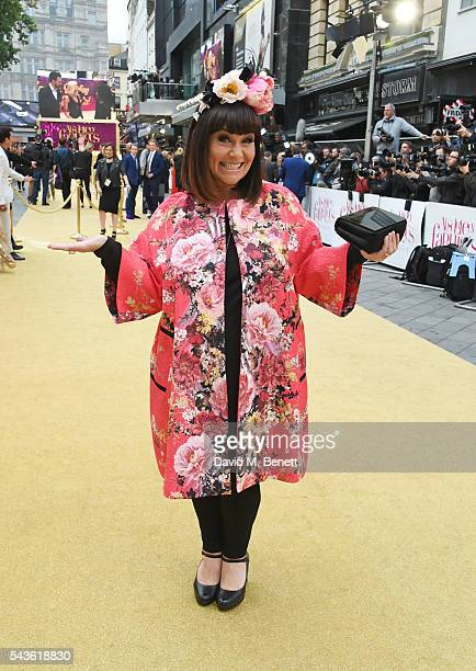 Dawn French attends the World Premiere of Absolutely Fabulous The Movie at Odeon Leicester Square on June 29 2016 in London England