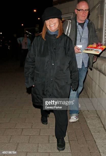 Dawn French leaving Lyceum Theatre after her performance of 30 Million Minutes on June 6 2014 in Sheffield England