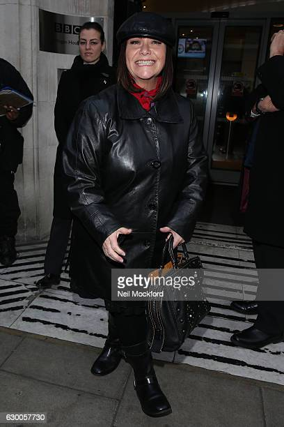 Dawn French seen at BBC Radio 2 on December 16 2016 in London England
