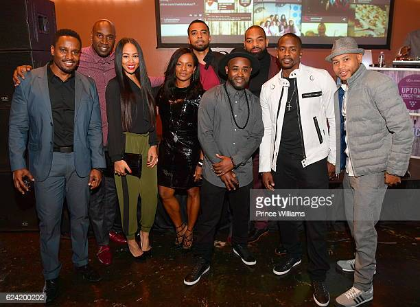 Dawn Halfkenny Vanessa Bell Calloway Christian Keyes Keith Robinson and Tray Chaney attend UPTOWN Uncorked at King Plow Arts Center on November 17...