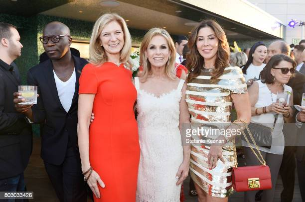 Dawn Hudson Adele Alagem and Julie Waldorf attend Waldorf Astoria Beverly Hills Grand Opening Cocktail Celebration on June 28 2017 in Beverly Hills...