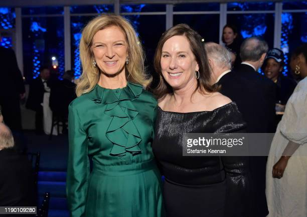 AMPAS CEO Dawn Hudson and Kathleen Kennedy attend the 2019 LACMA Art Film Gala Presented By Gucci at LACMA on November 02 2019 in Los Angeles...