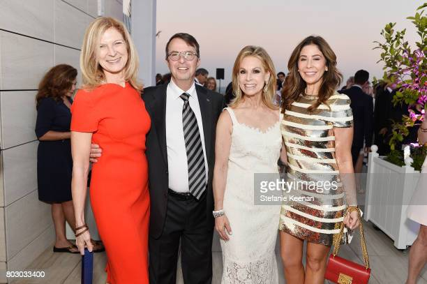 Dawn Hudson Beny Alagem Adele Alagem and Julie Waldorf attend Waldorf Astoria Beverly Hills Grand Opening Cocktail Celebration on June 28 2017 in...