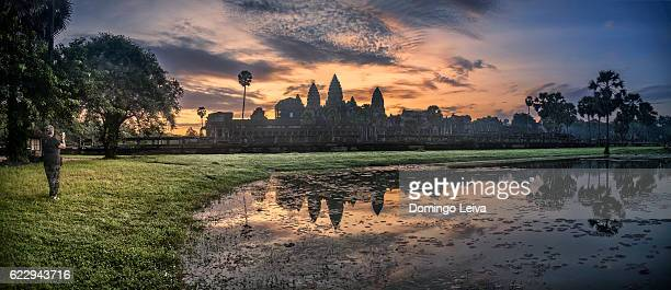 Dawn in Angkor Vat temple, Canbodia