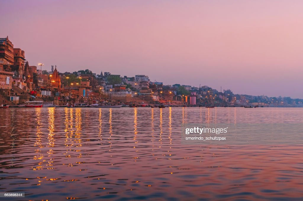 Dawn in Ganges River : Stock Photo