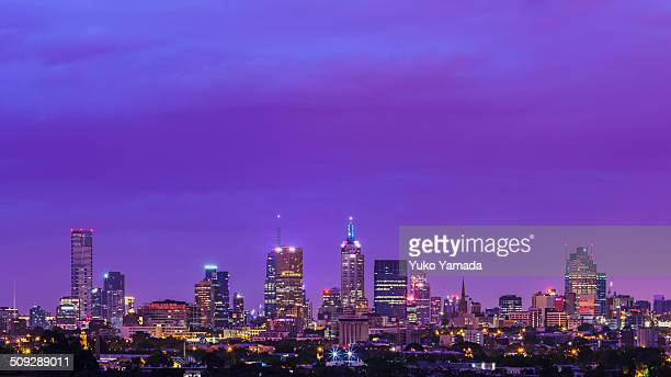 Dawn in Melbourne City