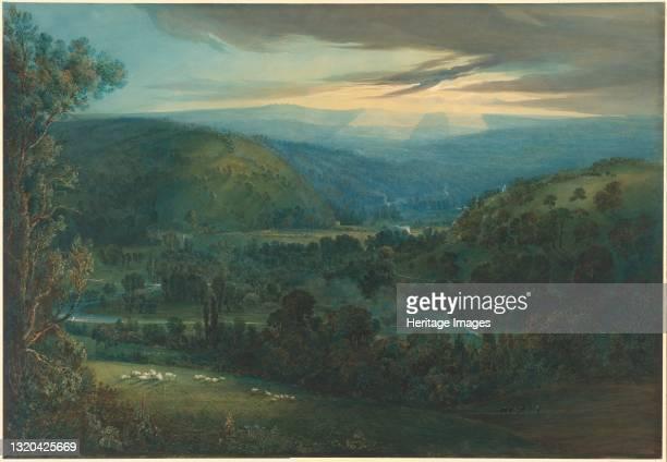 Dawn in the Valleys of Devon, 1832. Artist William Turner.