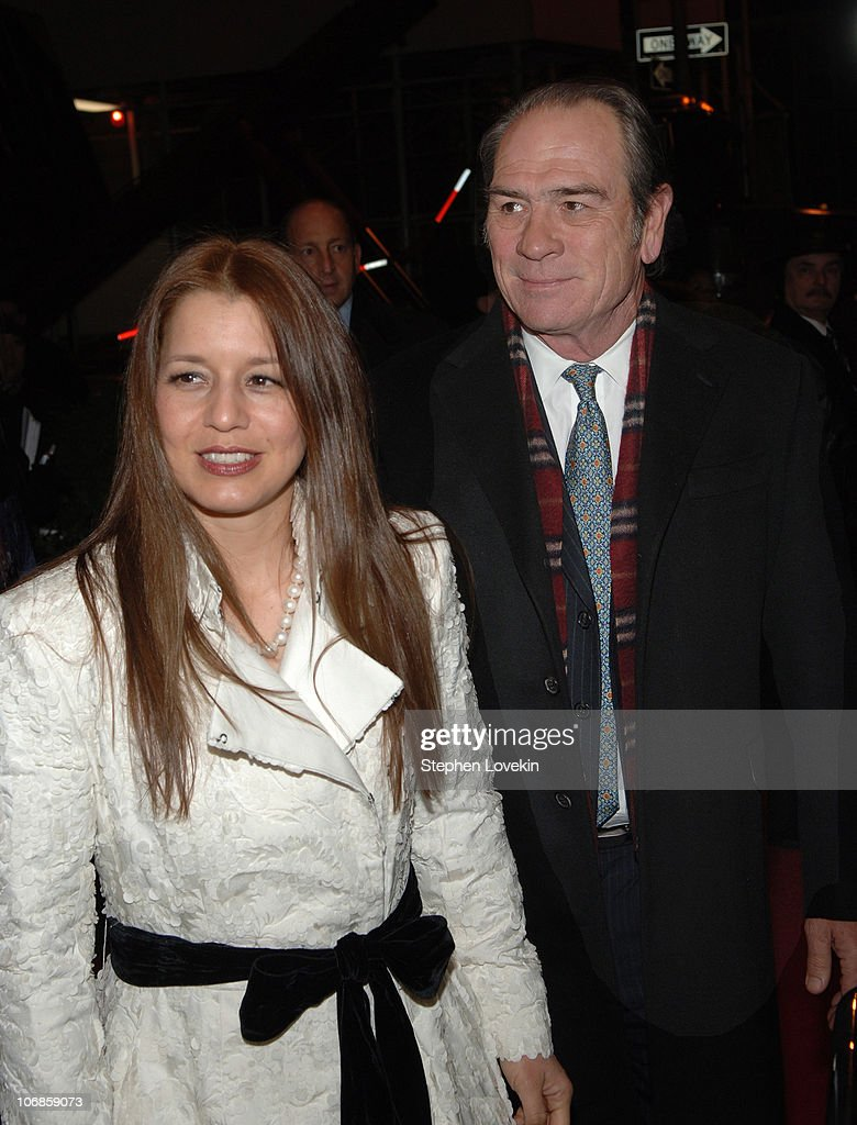 Dawn Jones and Tommy Lee Jones during 'The Three Burials of Melquiades Estrada' New York City Premiere - Inside Arrivals at The Paris Theatre in New York City, New York, United States.