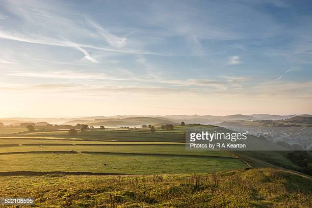 Dawn light on an English landscape