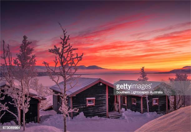 Dawn light sweeps across the landscape at Bjorkliden, Lapland, Sweden.