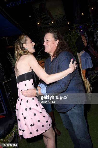 Dawn Luebbe and DotMarie Jones attend LA Special Screening Of IFC Midnight's GREENER GRASS at The Montalban Theater on October 14 2019 in Los Angeles...
